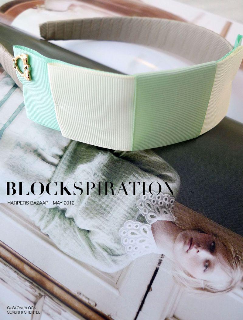 Blockspiration Harpers Bazaar May 2012