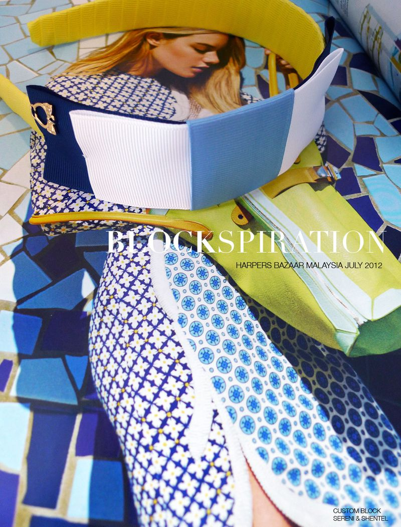 Blockspiration Harpers Bazaar July 2012